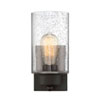 This item: Nicollet Oil Rubbed Bronze One-Light Wall Sconce with Seeded Glass