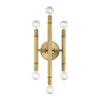 This item: Nicollet Natural Brass Six-Light Wall Sconce