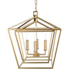 This item: Isles Gold 24-Inch Four-Light Lantern Pendant