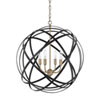 This item: Cooper Aged Brass and Black Four-Light Pendant