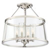 This item: Isles Polished Nickel Four-Light Semi Flush Mount