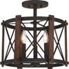This item: Afton Black 15-Inch Three-Light Semi Flush Mount