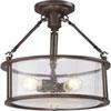 This item: Aster Bronze Three-Light Semi Flush Mount