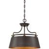 This item: Afton Bronze 18-Inch Three-Light Pendant