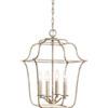 This item: Whittier Silver Leaf Four-Light Pendant