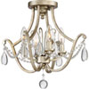 This item: Wellington Gold Four-Light Semi Flush Mount