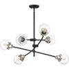 This item: Nicollet Black Six-Light Chandelier