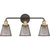 This item: Afton Bronze Three-Light Bath Vanity