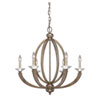 This item: Whittier Gold Six-Light Chandelier