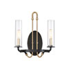 This item: Whittier Vintage Black Two-Light Wall Sconce