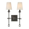 This item: Afton Oxidized Black Two-Light Wall Sconce