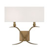 This item: Linden Warm Brass Two-Light Wall Sconce