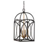 This item: Whittier Bronze and Warm Brass Four-Light Chandelier