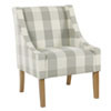 This item: Quinn Grey Plaid Accent Chair