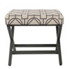 This item: Selby Red and Carbon Ottoman