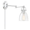 This item: Kate Chrome One-Light Adjustable Wall Sconce
