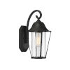 This item: Lincoln Matte Black One-Light Outdoor Wall Sconce