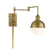 This item: Artemis Natural Brass One-Light Wall Sconce