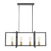 This item: Fulton Black and Antique Brass 12-Inch Four-Light Island Pendant