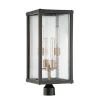 This item: Essex Midnight and Aged Brass Four-Light Post Mount