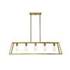 This item: Anita Warm Brass Five-Light Linear Chandelier