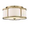 This item: Anna Warm Brass Three-Light Semi-Flush