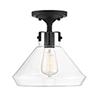 This item: Isles Matte Black One-Light Semi-Flush