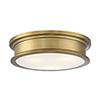 This item: Anita Warm Brass Three-Light Flush Mount