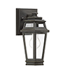This item: Isabella Textured Bronze with Gold Highlights Seven-Inch One-Light Outdoor Wall Sconce