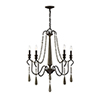 This item: Hana Weathered Ash Five-Light Chandelier