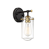 This item: Lex English Bronze and Warm Brass One-Light Wall Sconce