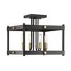 This item: Revolution Vintage Black with Warm Brass Four-Light Semi-Flush