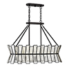 This item: Amara English Bronze Five-Light Linear Chandelier