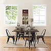 This item: Afton Black Powder Coated Steel Dining Chair, Set of Four