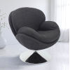 This item: Nicollet Chrome Gray Anthracite Fabric Armed Leisure Chair