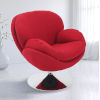 This item: Nicollet Chrome Red Fabric Armed Leisure Chair