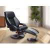 This item: Selby Merlot Black Top Grain Leather Manual Recliner with Ottoman