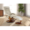 This item: Selby Alpine Black Beige Breathable Air Leather Manual Recliner with Ottoman and Cervical Pillow