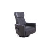 This item: Linden Chrome Charcoal Air Leather Power Recliner