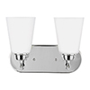 This item: Whitter Chrome Energy Star 12-Inch Two-Light Bath Vanity