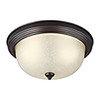 This item: James Sienna 11-Inch LED Flush Mount with Amber Scavo Glass