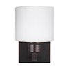 This item: Nora Burnt Sienna Six-Inch One-Light Bath Sconce