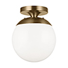 This item: Loring Satin Bronze One-Light Energy Star Semi Flush Mount