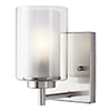 This item: Uptown Brushed Nickel One-Light Wall Sconce