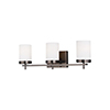 This item: Loring Brushed Oil Rubbed Bronze Three-Light Wall Sconce