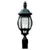 This item: Charles Black Two-Light Outdoor Post Lantern