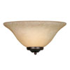 This item: Wellington Rubbed Bronze One-Light Wall Sconce with Tea Stone Glass
