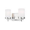 This item: Loring Chrome Two-Light Wall Sconce