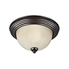 This item: James Sienna 15-Inch LED Flush Mount with Amber Scavo Glass