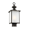 This item: Oxford Antique Bronze Energy Star Seven-Inch One-Light Outdoor Post Lantern